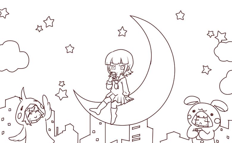 ナナヲアカリ / シアワセシンドローム (線画)